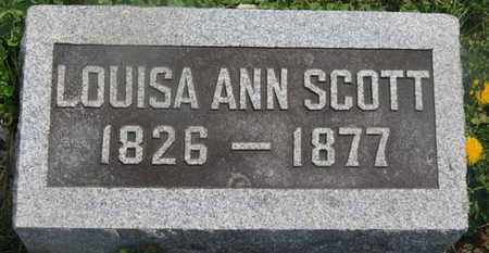 SCOTT, LOUISA ANN - Delaware County, Ohio | LOUISA ANN SCOTT - Ohio Gravestone Photos