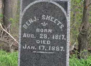 SHEETS, BENJ. - Delaware County, Ohio | BENJ. SHEETS - Ohio Gravestone Photos