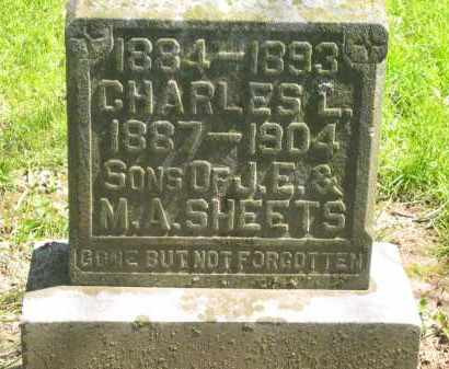 SHEETS, CHARLES L. - Delaware County, Ohio | CHARLES L. SHEETS - Ohio Gravestone Photos
