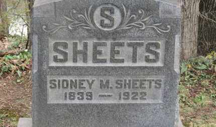 SHEETS, SIDNEY M. - Delaware County, Ohio | SIDNEY M. SHEETS - Ohio Gravestone Photos