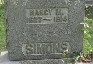 SIMONS, NANCY M. - Delaware County, Ohio | NANCY M. SIMONS - Ohio Gravestone Photos