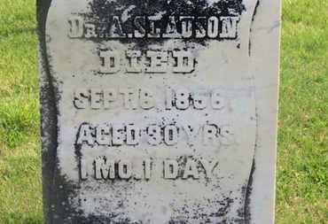 SLAUSON, DR. A. - Delaware County, Ohio | DR. A. SLAUSON - Ohio Gravestone Photos
