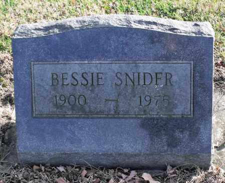 SNIDER, BESSIE - Delaware County, Ohio | BESSIE SNIDER - Ohio Gravestone Photos