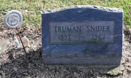 SNIDER, TRUMAN - Delaware County, Ohio | TRUMAN SNIDER - Ohio Gravestone Photos