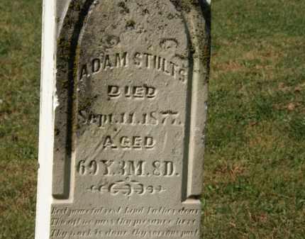 STULTS, ADAM - Delaware County, Ohio | ADAM STULTS - Ohio Gravestone Photos