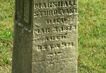 STURDEVANT, MARSHALL - Delaware County, Ohio | MARSHALL STURDEVANT - Ohio Gravestone Photos