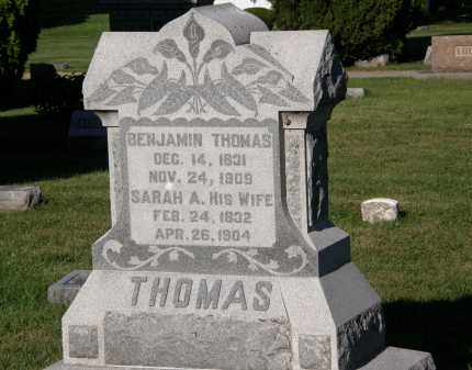 THOMAS, BENJAMIN - Delaware County, Ohio | BENJAMIN THOMAS - Ohio Gravestone Photos