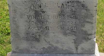 PLANT THURSTON, ANN L. - Delaware County, Ohio | ANN L. PLANT THURSTON - Ohio Gravestone Photos