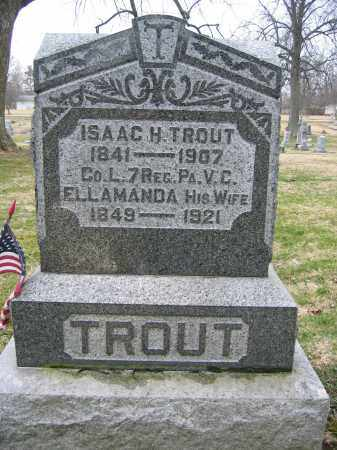 TROUT, ISAAC H - Delaware County, Ohio | ISAAC H TROUT - Ohio Gravestone Photos