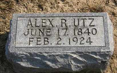 UTZ, ALEX R. - Delaware County, Ohio | ALEX R. UTZ - Ohio Gravestone Photos