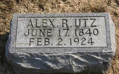 UTZ, ALEX R. - Delaware County, Ohio   ALEX R. UTZ - Ohio Gravestone Photos