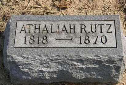UTZ, ATHALIAH R. - Delaware County, Ohio | ATHALIAH R. UTZ - Ohio Gravestone Photos
