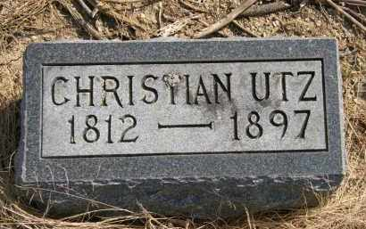 UTZ, CHRISTIAN - Delaware County, Ohio | CHRISTIAN UTZ - Ohio Gravestone Photos