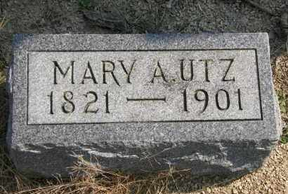 UTZ, MARY A. - Delaware County, Ohio | MARY A. UTZ - Ohio Gravestone Photos