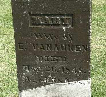 VANAUKEN, MARY - Delaware County, Ohio | MARY VANAUKEN - Ohio Gravestone Photos
