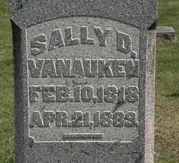 VANAUKEN, SALLY D. - Delaware County, Ohio | SALLY D. VANAUKEN - Ohio Gravestone Photos