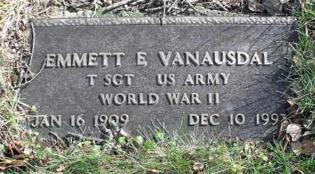 VANAUSDAL, EMMETT E. - Delaware County, Ohio | EMMETT E. VANAUSDAL - Ohio Gravestone Photos