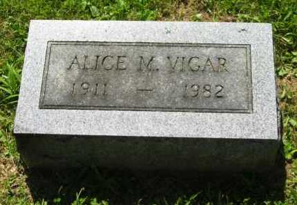 VIGAR, ALICE - Delaware County, Ohio | ALICE VIGAR - Ohio Gravestone Photos