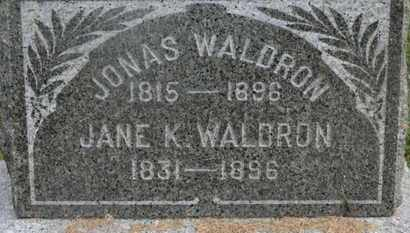 WALDRON, JONAS - Delaware County, Ohio | JONAS WALDRON - Ohio Gravestone Photos