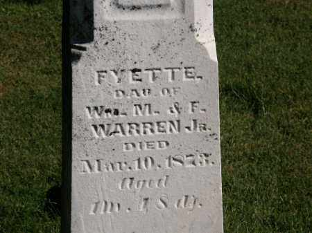 WARREN, FYETTE - Delaware County, Ohio | FYETTE WARREN - Ohio Gravestone Photos