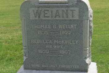 MCKINLEY WEIANT, REBECCA - Delaware County, Ohio | REBECCA MCKINLEY WEIANT - Ohio Gravestone Photos