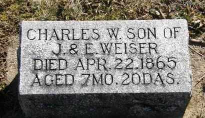 WEISER, CHARLES W. - Delaware County, Ohio | CHARLES W. WEISER - Ohio Gravestone Photos