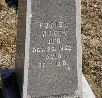 WEISER, FOSTER - Delaware County, Ohio | FOSTER WEISER - Ohio Gravestone Photos