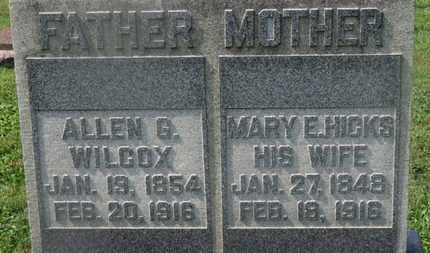 WILCOX, MARY E. - Delaware County, Ohio | MARY E. WILCOX - Ohio Gravestone Photos