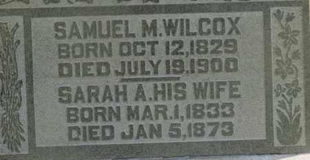 WILCOX, SARAH A. - Delaware County, Ohio | SARAH A. WILCOX - Ohio Gravestone Photos