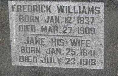 WILLIAMS, FREDRICK - Delaware County, Ohio | FREDRICK WILLIAMS - Ohio Gravestone Photos