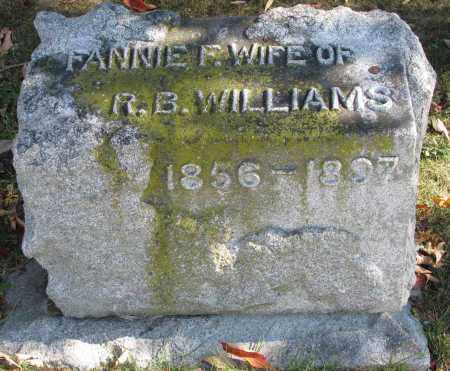 WILLIAMS, FANNIE F. - Delaware County, Ohio | FANNIE F. WILLIAMS - Ohio Gravestone Photos
