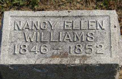 WILLIAMS, NANCY ELLEN - Delaware County, Ohio | NANCY ELLEN WILLIAMS - Ohio Gravestone Photos