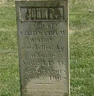 WINSHIP, JOHN P. - Delaware County, Ohio | JOHN P. WINSHIP - Ohio Gravestone Photos