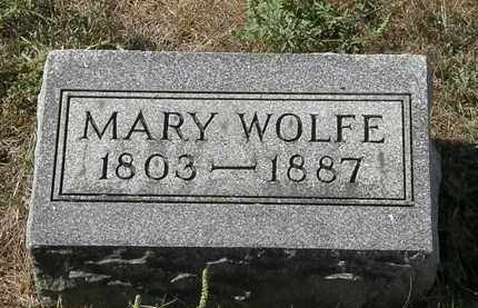WOLFE, MARY - Delaware County, Ohio | MARY WOLFE - Ohio Gravestone Photos
