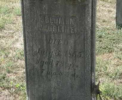 WORLINE, SOLOMON - Delaware County, Ohio | SOLOMON WORLINE - Ohio Gravestone Photos