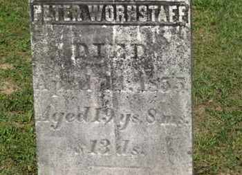 WORNSTAFF, PETER - Delaware County, Ohio | PETER WORNSTAFF - Ohio Gravestone Photos