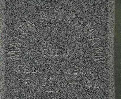 ACKERMANN, MARTHA - Erie County, Ohio | MARTHA ACKERMANN - Ohio Gravestone Photos