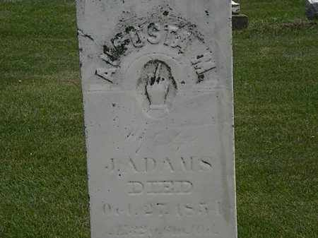 ADAMS, J. - Erie County, Ohio | J. ADAMS - Ohio Gravestone Photos