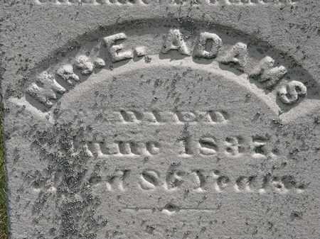 ADAMS, E. - Erie County, Ohio   E. ADAMS - Ohio Gravestone Photos