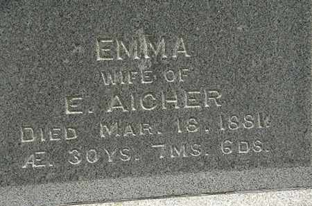 AICHER, EMMA - Erie County, Ohio | EMMA AICHER - Ohio Gravestone Photos