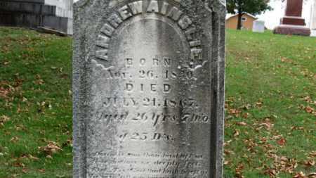 AINSLIE, ANDREW - Erie County, Ohio   ANDREW AINSLIE - Ohio Gravestone Photos