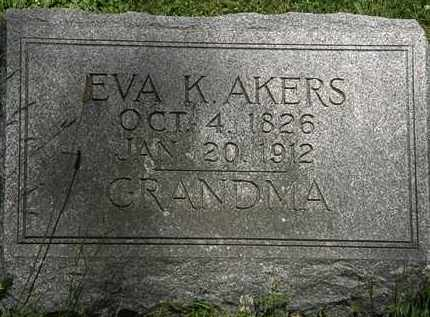 AKERS, EVA K. - Erie County, Ohio | EVA K. AKERS - Ohio Gravestone Photos