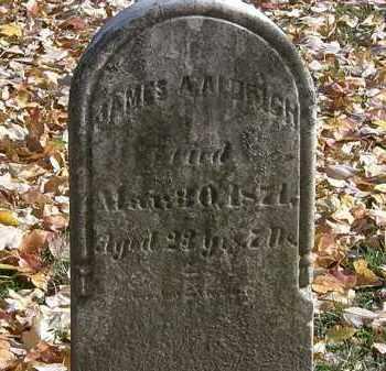 ALDRICH, JAMES A. - Erie County, Ohio | JAMES A. ALDRICH - Ohio Gravestone Photos