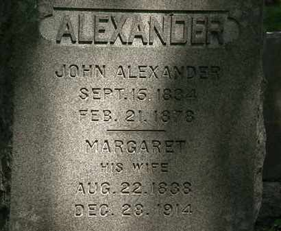 ALEXANDER, MARGARET - Erie County, Ohio | MARGARET ALEXANDER - Ohio Gravestone Photos