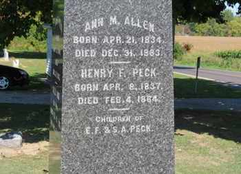 PECK, HENRY F. - Erie County, Ohio | HENRY F. PECK - Ohio Gravestone Photos