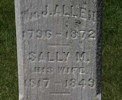 ALLEN, SALLY M. - Erie County, Ohio | SALLY M. ALLEN - Ohio Gravestone Photos