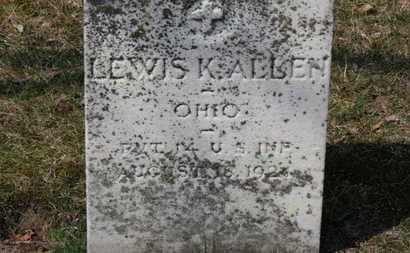 ALLEN, LEWIS K. - Erie County, Ohio | LEWIS K. ALLEN - Ohio Gravestone Photos