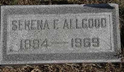 ALLGOOD, SERENA F. - Erie County, Ohio | SERENA F. ALLGOOD - Ohio Gravestone Photos