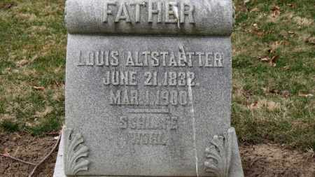 ALTSTAETTER, LOUIS - Erie County, Ohio | LOUIS ALTSTAETTER - Ohio Gravestone Photos