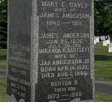 ANDERSON, JAMES - Erie County, Ohio | JAMES ANDERSON - Ohio Gravestone Photos
